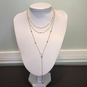 New Gold Layered Necklace